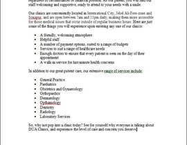 drewnjus tarafından Content Writing for a budget clinic profile için no 2
