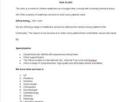 mmaazz tarafından Content Writing for a budget clinic profile için no 4