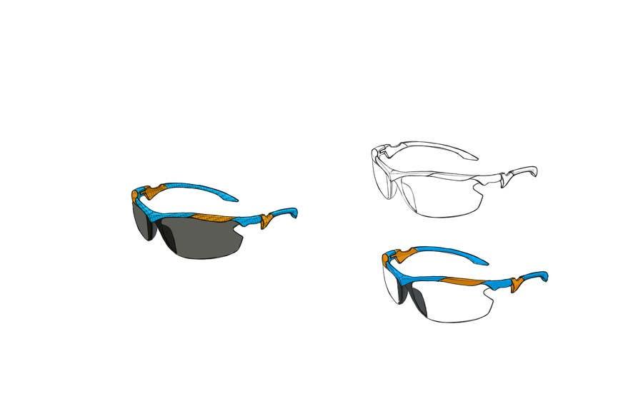 Konkurrenceindlæg #20 for Design some modern,very lightweight sports sunglasses (cycling, triathlon, running)