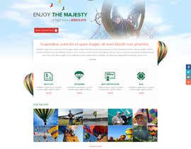 #5 cho Hot Air Balloon ride business Web Site Mockup bởi suryabeniwal