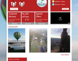 #4 cho Hot Air Balloon ride business Web Site Mockup bởi xenixphp