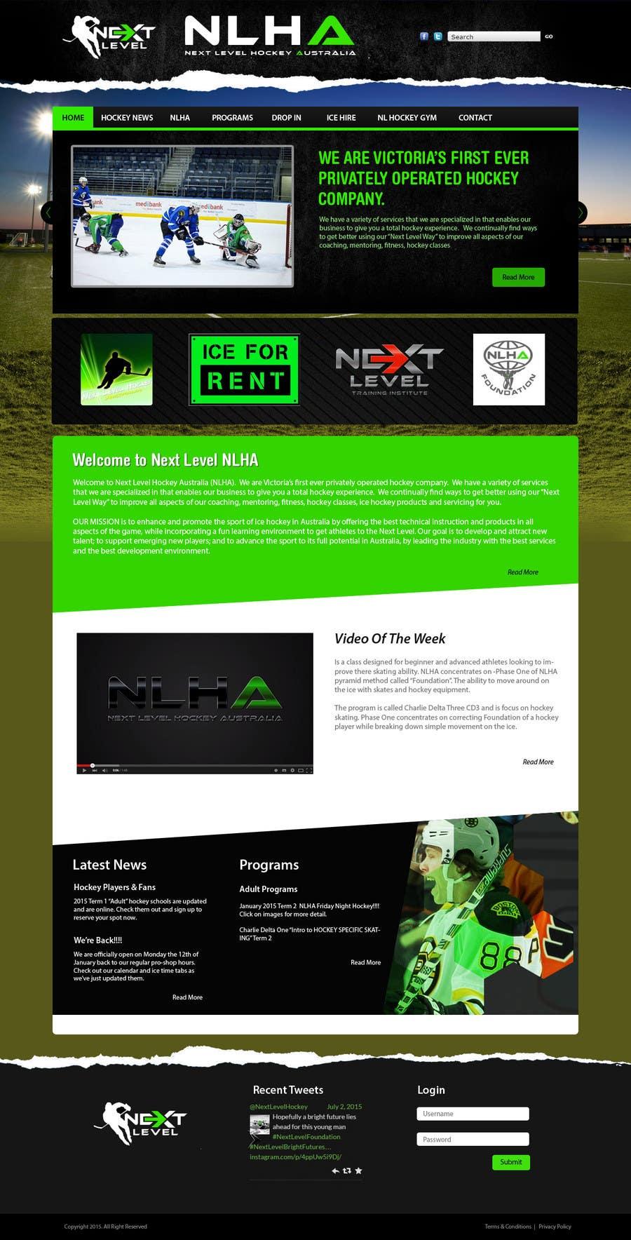 Bài tham dự cuộc thi #16 cho Design a Website Mockup for NextLevelHockey
