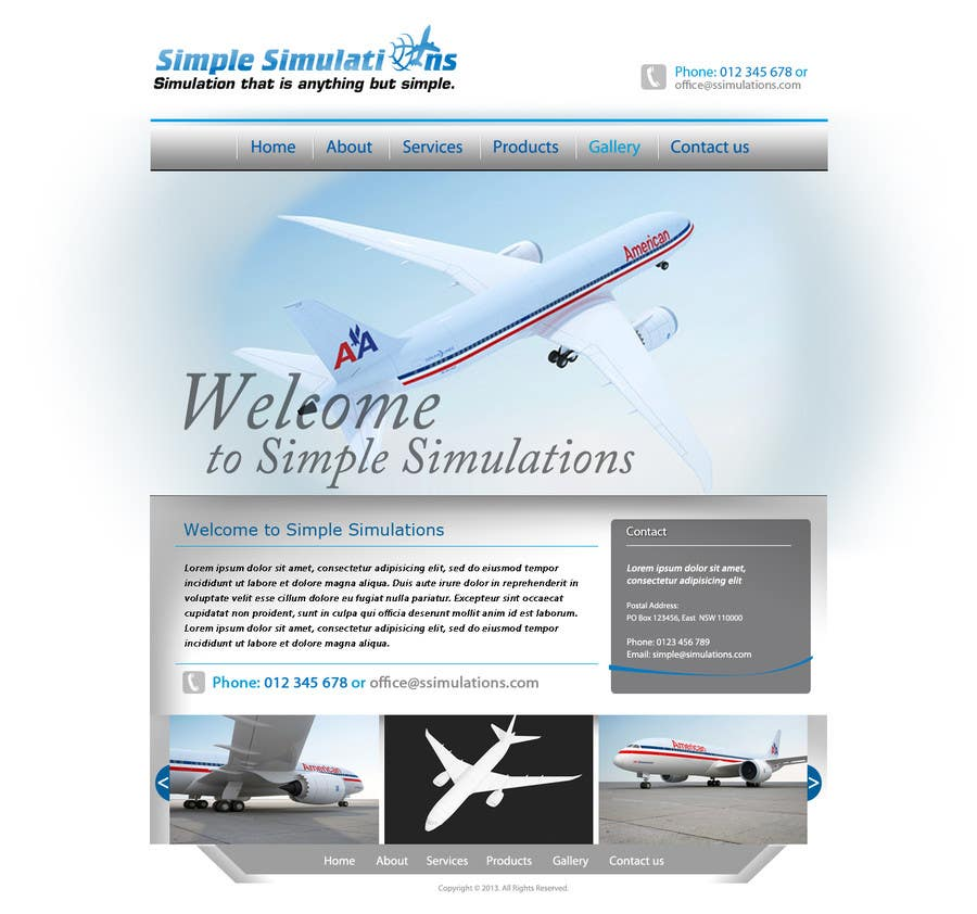#12 for Design a Website for Simple Simulations by grafixeu