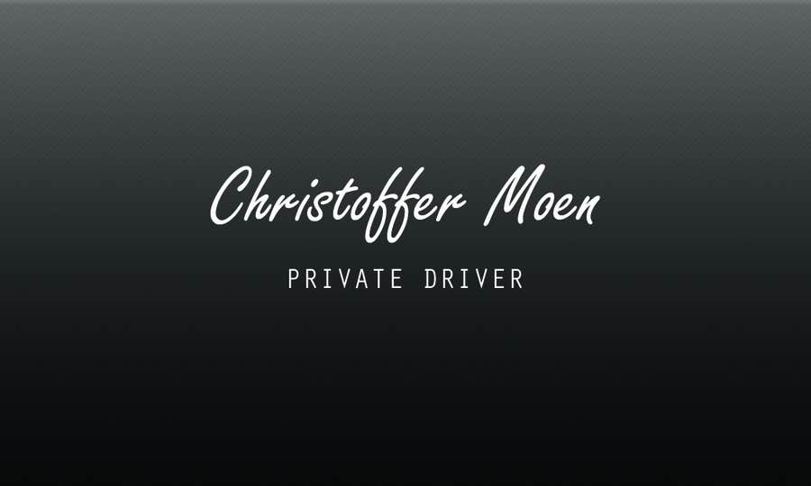 Konkurrenceindlæg #6 for Business Card - Private Driver