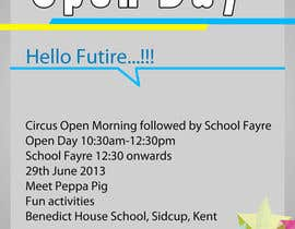 sykov tarafından Design a Flyer for School Open Day için no 2