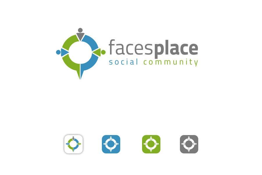 Kilpailutyö #97 kilpailussa Design a Logo for facesplace