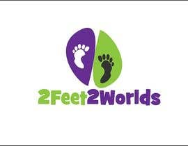 nº 33 pour Design a Logo for 2 Feet 2 Worlds par iakabir