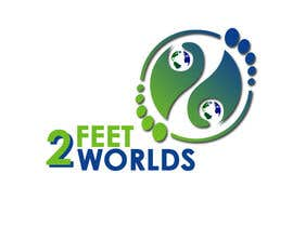 #103 para Design a Logo for 2 Feet 2 Worlds por siawan