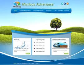 #1 para Design a Website Mockup for An Outdoors & Minibus Hire Company por gsthamu