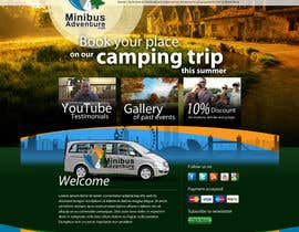 #7 para Design a Website Mockup for An Outdoors & Minibus Hire Company por grafixeu