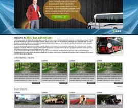 #4 para Design a Website Mockup for An Outdoors & Minibus Hire Company por crystaleyes54