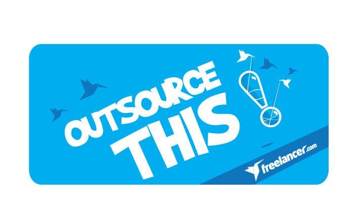 "#168 for Logo Design for Want a sticker designed for Freelancer.com ""Outsource this!"" by pradeepkc"