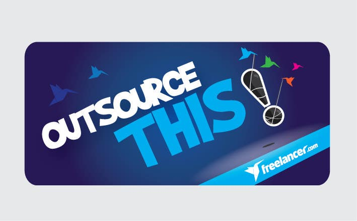 "#167 for Logo Design for Want a sticker designed for Freelancer.com ""Outsource this!"" by pradeepkc"