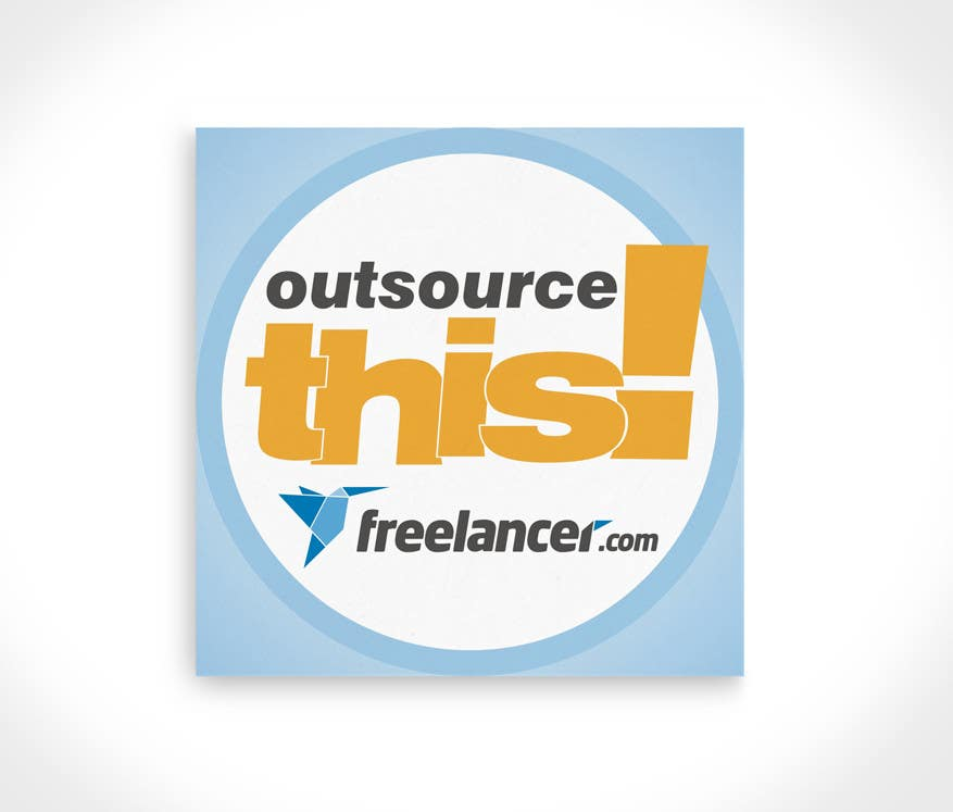"#79 for Logo Design for Want a sticker designed for Freelancer.com ""Outsource this!"" by santarellid"