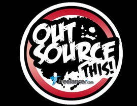 "#131 untuk Logo Design for Want a sticker designed for Freelancer.com ""Outsource this!"" oleh kaluluwangligaw"