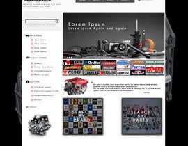 #14 untuk Design a Website Mockup for an auto parts wesbite oleh chafaiayman
