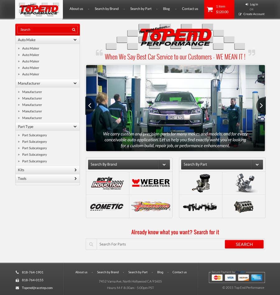Bài tham dự cuộc thi #10 cho Design a Website Mockup for an auto parts wesbite