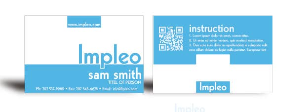 Contest Entry #                                        103                                      for                                         Business Card Design for Impleo