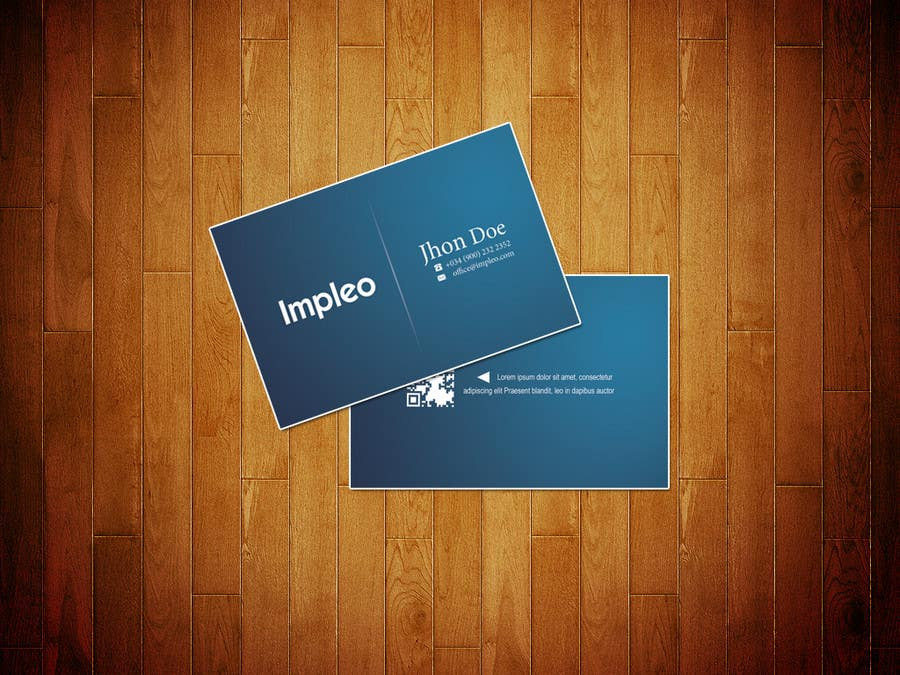Proposition n°                                        129                                      du concours                                         Business Card Design for Impleo