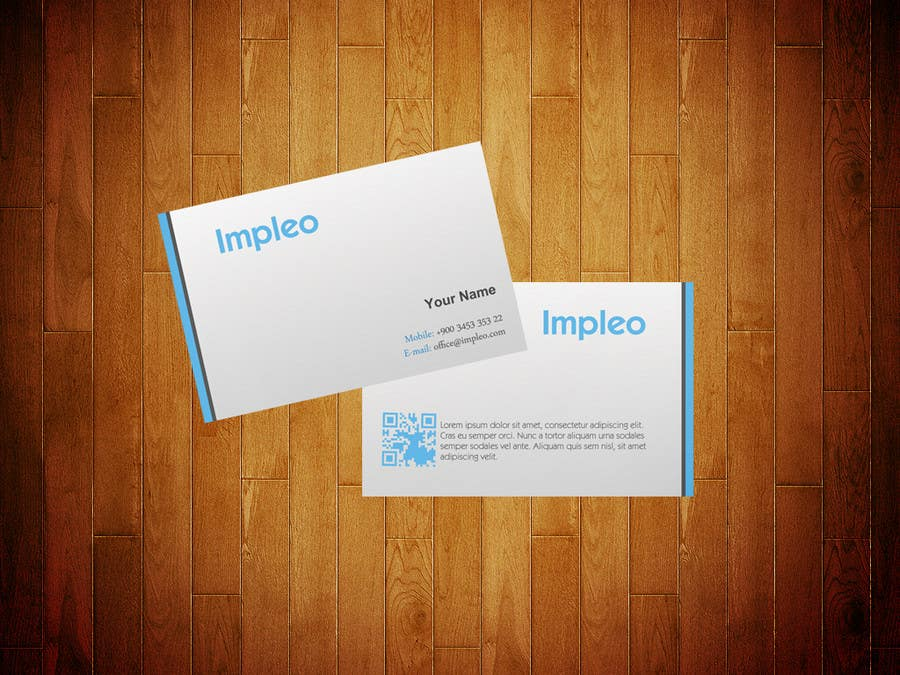 Proposition n°                                        114                                      du concours                                         Business Card Design for Impleo