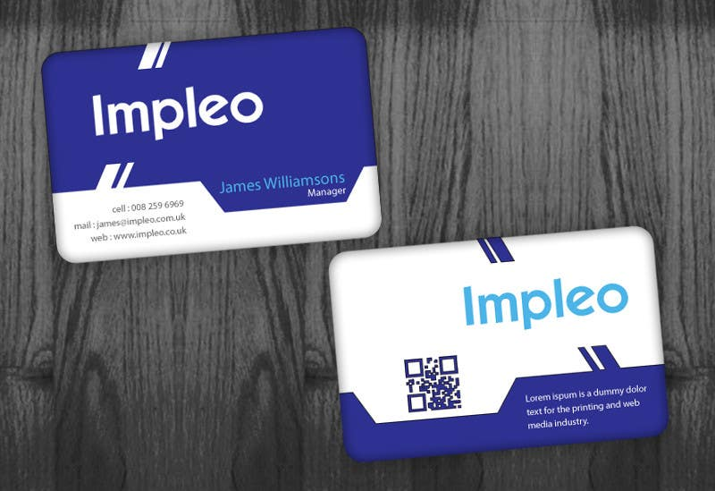 Contest Entry #                                        121                                      for                                         Business Card Design for Impleo