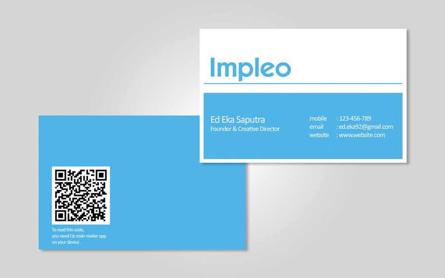Proposition n°                                        86                                      du concours                                         Business Card Design for Impleo