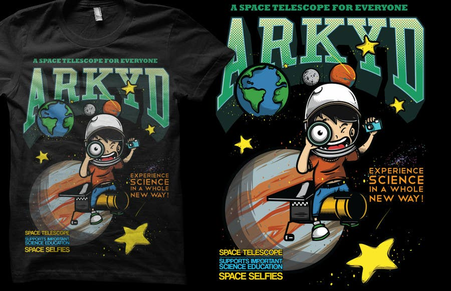 Συμμετοχή Διαγωνισμού #                                        2372                                      για                                         Earthlings: ARKYD Space Telescope Needs Your T-Shirt Design!