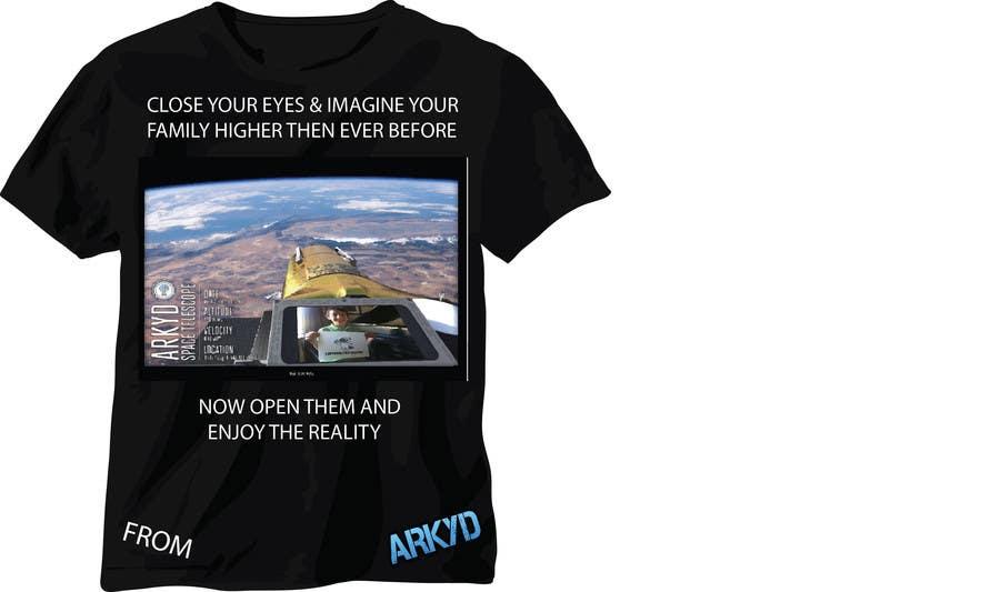 Bài tham dự cuộc thi #2560 cho Earthlings: ARKYD Space Telescope Needs Your T-Shirt Design!