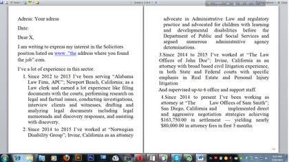 #3 untuk Legal Cover Letter Required oleh Emon93