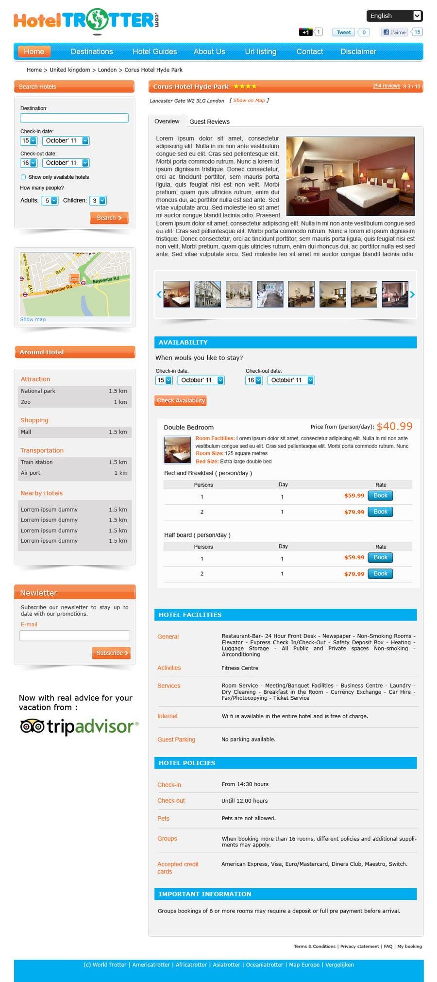 Contest Entry #33 for Website Design for Hoteltrotter