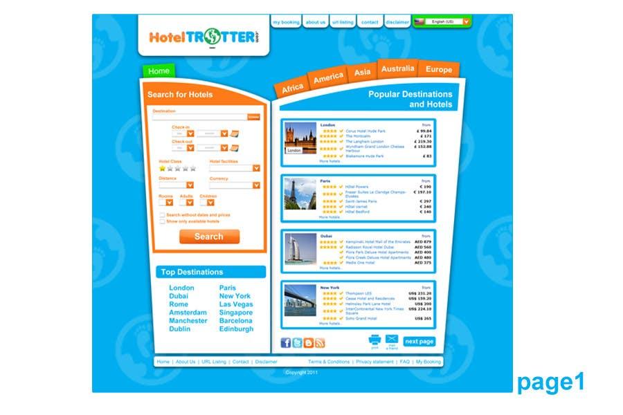 Contest Entry #58 for Website Design for Hoteltrotter
