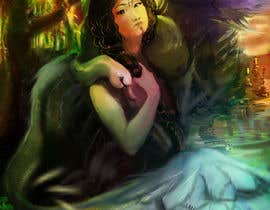 #30 for Fantasy art contest: Cygnisia the Swan-maiden af BibinAJ