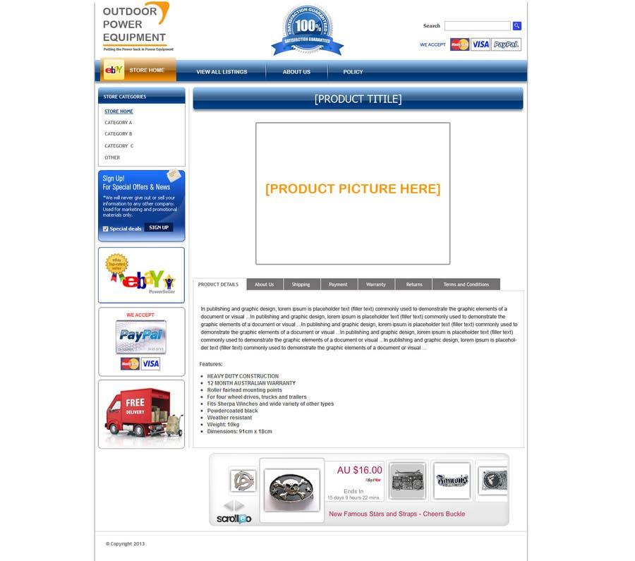Inscrição nº                                         4                                      do Concurso para                                         Design an ebay Template for our eBay store & listings (Themed to our business)