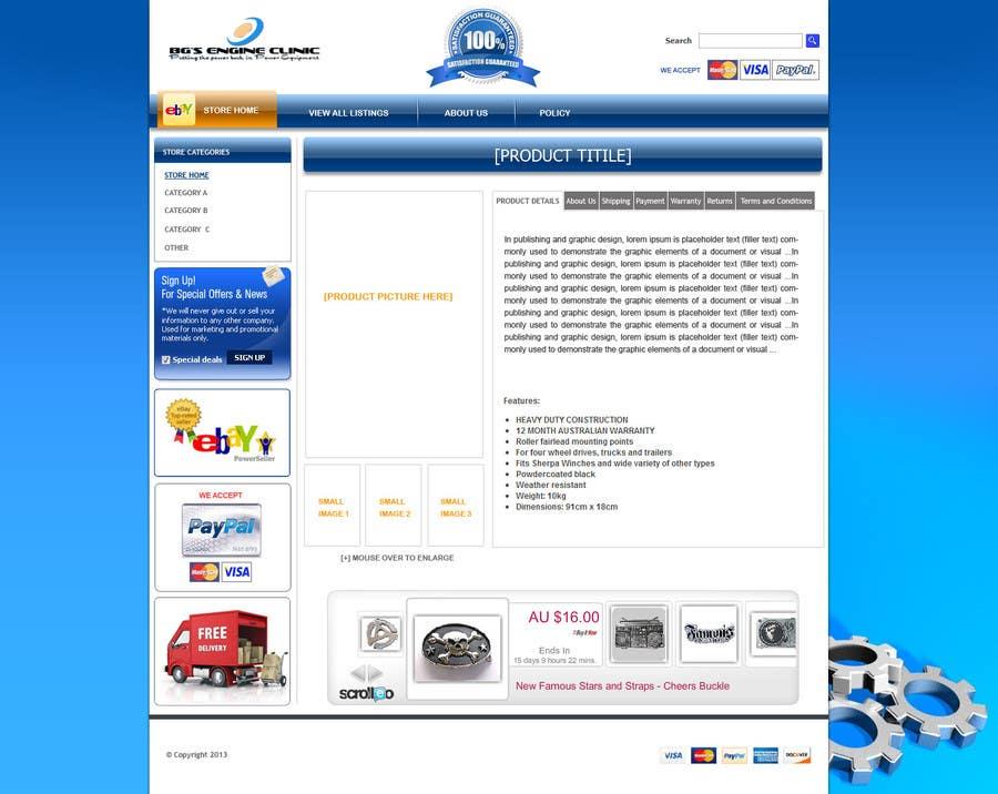 Inscrição nº                                         6                                      do Concurso para                                         Design an ebay Template for our eBay store & listings (Themed to our business)