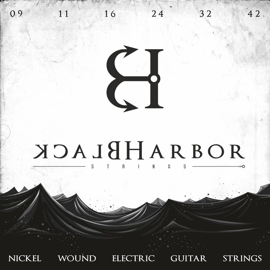 Konkurrenceindlæg #151 for Design a Logo for a Guitar Strings company called Black Harbor.