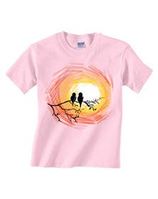 #8 cho Lovebird Design for White and Pink Women's T-Shirts bởi squirrel1811