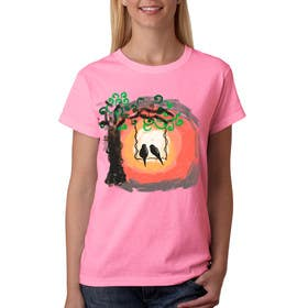 #31 cho Lovebird Design for White and Pink Women's T-Shirts bởi squirrel1811