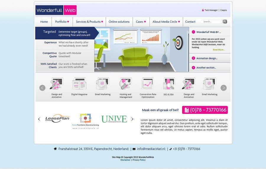 Penyertaan Peraduan #                                        34                                      untuk                                         Design a Website Mockup for www.wonderfullweb.nl