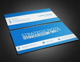 ghulamhelal tarafından Design Contemporary, Modern Business Cards for Strategic Note Network için no 5