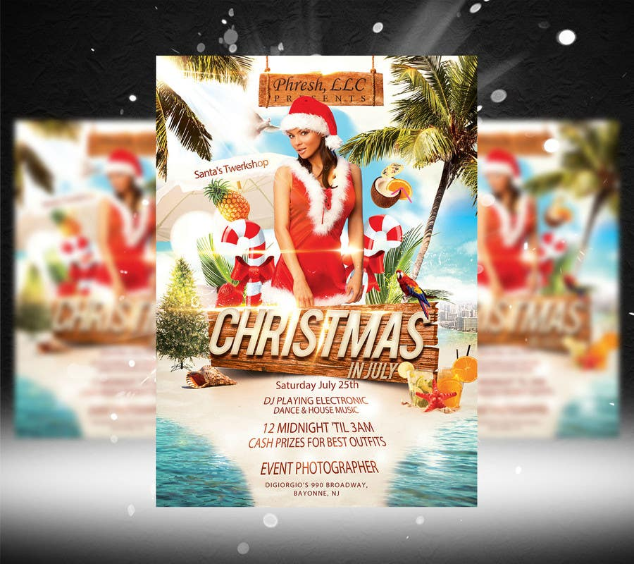 Entry 41 by k0z3y for Design a Flyer for Christmas in July Freelancer