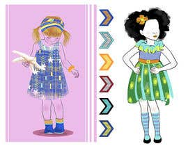 Aisbeth tarafından Illustrate fashion & lifestyle for a Kids eclectic clothing line collection  - Stage1 için no 12