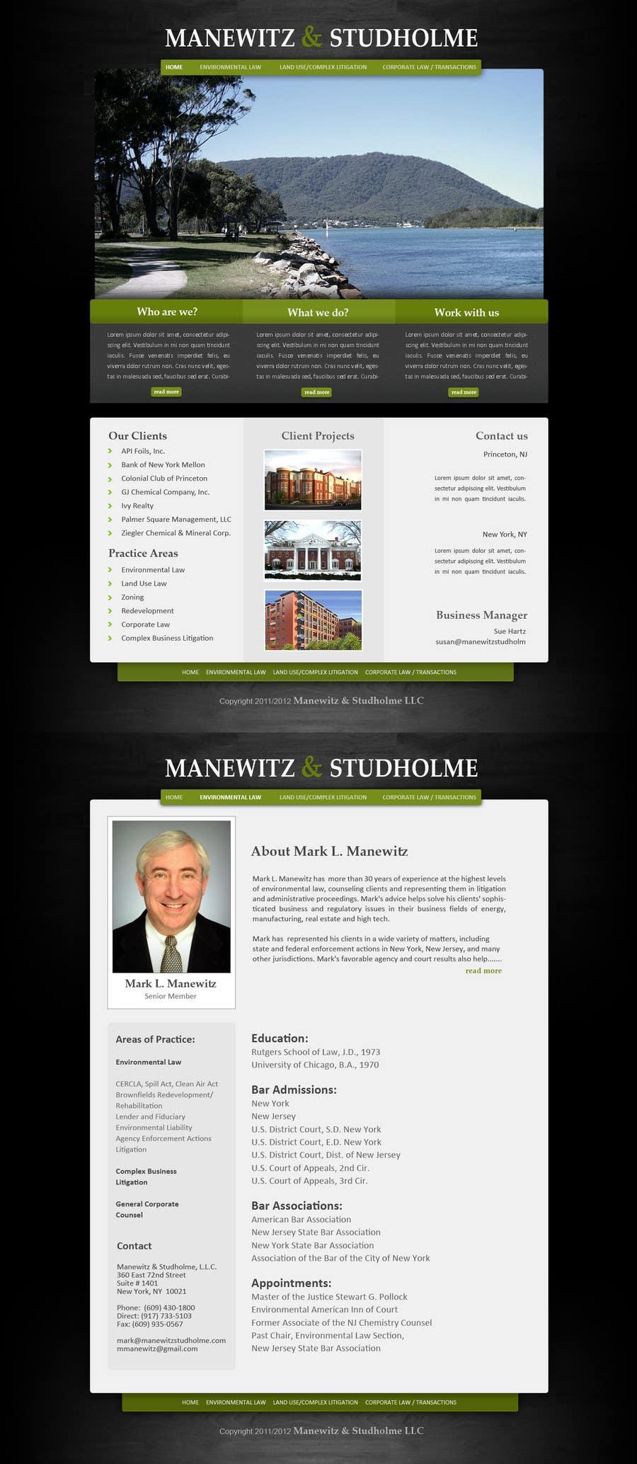 #58 for Website Design for Manewitz & Studholme LLC by pradeepkc