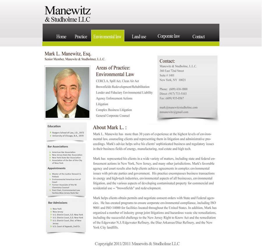 #45 for Website Design for Manewitz & Studholme LLC by madcganteng