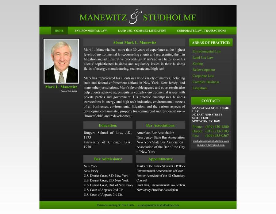 #118 for Website Design for Manewitz & Studholme LLC by MohammadNadeem91