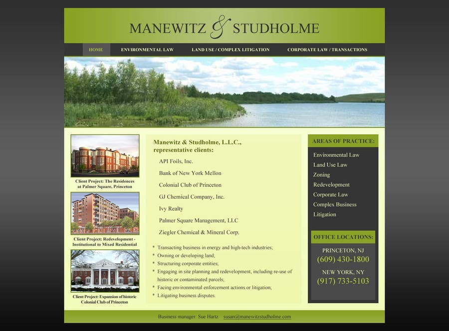 #123 for Website Design for Manewitz & Studholme LLC by MohammadNadeem91