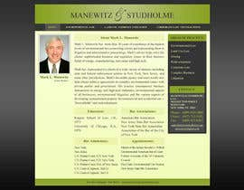 #122 dla Website Design for Manewitz & Studholme LLC przez MohammadNadeem91