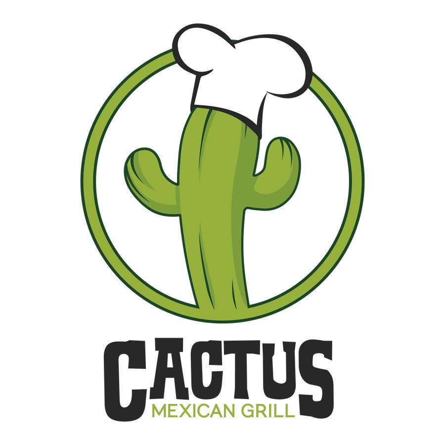 Fast Food Logo With Cactus