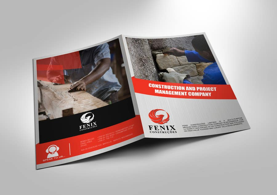 Penyertaan Peraduan #23 untuk Design a multi-purpose brochure for Construction Company