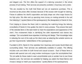 ChatterjeeA tarafından Press Release - Hector & Vine için no 1