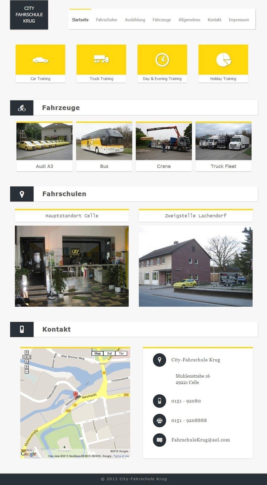 Bài tham dự cuộc thi #                                        4                                      cho                                         Webpage design for Driving School